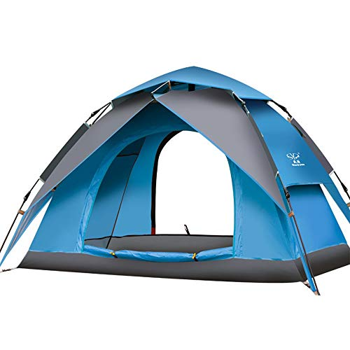 GFBVC Camping Tent Camping Automatic Pop Up Waterproof Tent with Carry Bag For Hiking Outdoor Use Portable Waterproof Tent (Color : Blue, Size : One Size)