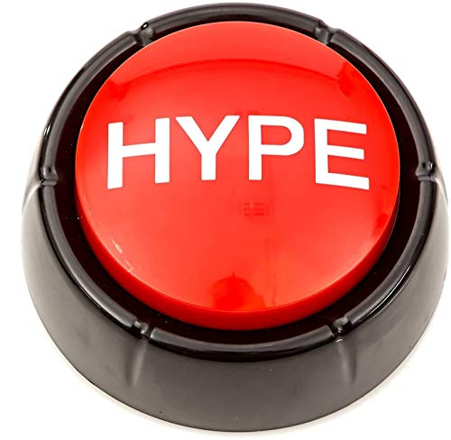 The Hype Button   Hip Hop Air Horn Sound Effect Button (Batteries Included)
