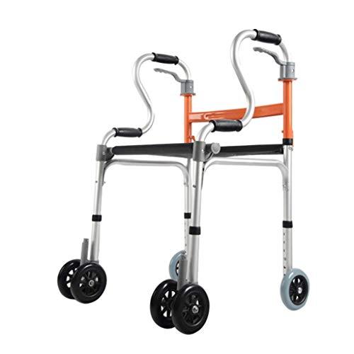 Andadores estándares y ligeros Ayuda para caminar para anciano, marco para caminar para discapacitados de aleación de aluminio grueso que puede sentarse en una silla de ducha plegable con o sin rued