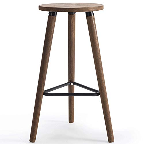 YANYDO massief houten barstoel ronde kruk statafel stoel eenvoudige moderne bar cafe barkruk