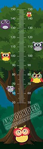 AM Wohnideen fotobehang voor kinderen/kinderen kind meetlat meetlint/muurstickers/muurtattoo/kinderkamer uil