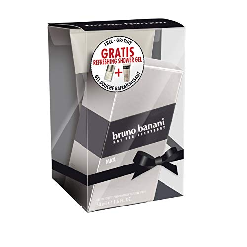 Bruno Banani Man Duftset Eau de Toilette 50ml + Showergel 150ml, 1er Pack (1 x 200 ml)