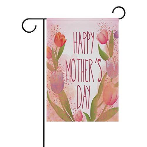 fdgjfghjdfj Mother's Day Garden Flag Yard Decoration, Happy Mom'S Day Lily...