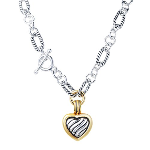 UNY Fashion Trendy Pendants Antique Pendant Heart cable wire Desinger Inspired Women...