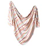 Large Premium Knit Baby Swaddle Receiving Blanket Belle by Copper Pearl