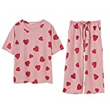 パジャマ レディース 夏 綿 半袖 Unifizz ルームウェア ホームウェア Tシャツ ショートパンツ 上下セット 春 薄手 快適 柔らか 吸汗 通気 可愛い ゆったり ルーズ ネグリジェ 部屋着 寝巻き ガールズ プレゼント Womens Pyjamas
