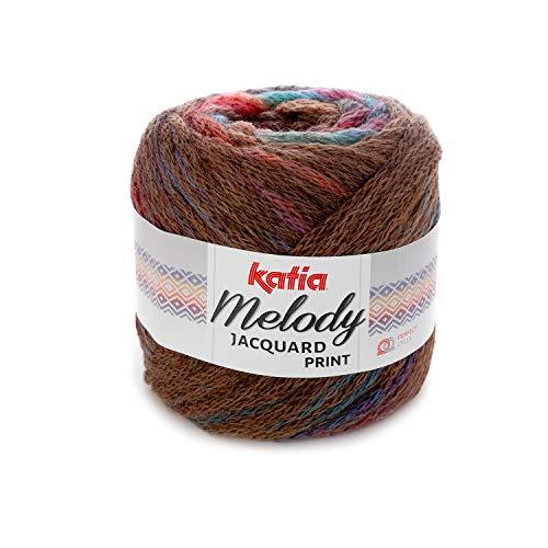 Katia Melody Jacquard Print – Color: Marrón/Naranja/Verde/Lila (500) – 100 g/aprox. Lana de 280 m.