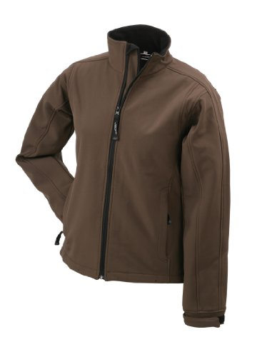 James & Nicholson Damen Jacke Softshelljacke braun (brown) Large