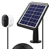 Sun Energise Panel Solar Compatible con las Cámaras Arlo Ultra/Ultra 2, Arlo Pro 3/Pro 4, Pro 3 Floodlight 5W 6V con Cable de 13 Pies, Cargador Solar con Soporte Ajustable