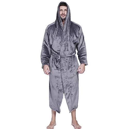 LZJDS Albornoz con capucha para hombre, tallas grandes, de...