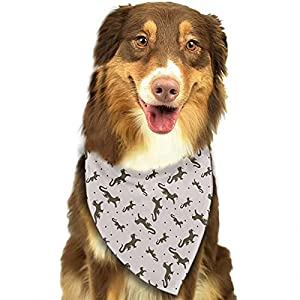 Cartoon Monitor Lizard Dog Bandana Pets Bib Cats Triangle Scarf Adjustable Animals Accessories for Small to Large Pets