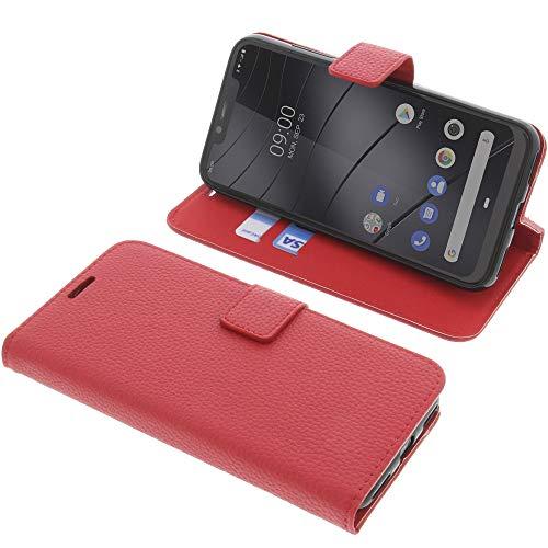 foto-kontor Tasche für Gigaset GS195 Book Style rot Schutz Hülle Buch