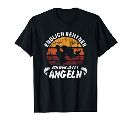 Endlich Rentner Ich Geh Jetzt Angeln Retro Spruch T-Shirt