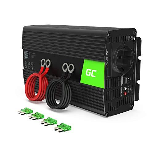 Green Cell® 1000W/2000W 12V auf 230V Volt kfz Spannungswandler Wechselrichter Power Solar Inverter DC AC Umwandler Stromwandler Fahrzeuge Wohnwagen Auto Modifizierte Sinus Sine Wave Autoladegerät