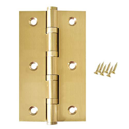 Cerniere per porte in 2 pezzi, robuste cerniere per armadi in ottone da 75 mm, cerniere in acciaio inossidabile con cuscinetti a sfera più resistenti