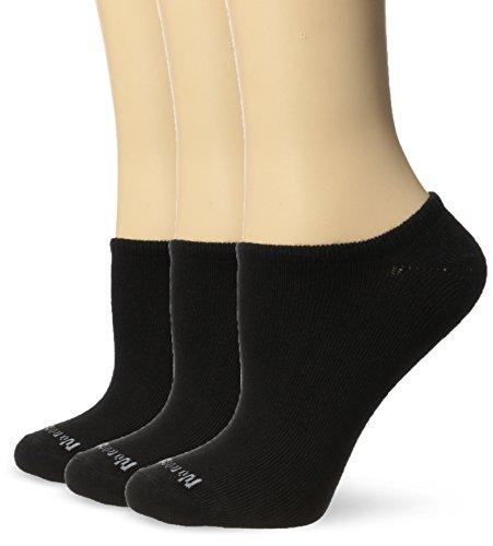 No Nonsense Women's Ahh Said The Foot No Show Liner Sock, Black, 4-10
