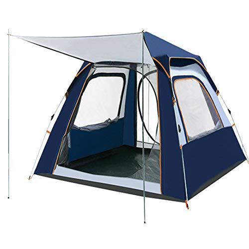 Outdoor 3-4 Person Pop Up Tent, Lightweight Family Camping Tent, Waterproof Portable Automatic Tent, Hiking Travel Trekking