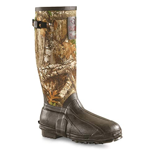 """Guide Gear Men's 15"""" High Insulated Rubber Hunting Boots, Camo Pattern, 1200-gram Thinsulate, 10D (Medium) 5 best insulated rubber hunting boots"""