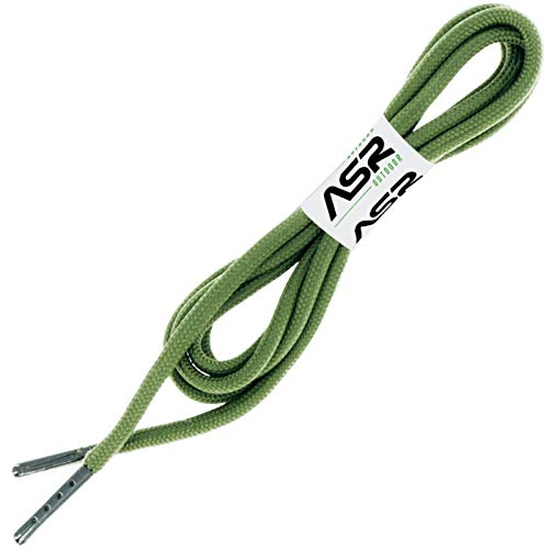 ASR Outdoor TraversaLace 550 Paracord Durable Survival Laces for Shoes and Hiking Boots Green — 4ft, 1 Pair