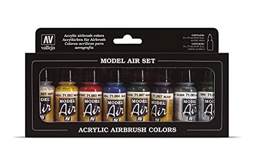 Vallejo 071174 Farbset, Basis-Farben, 8x17 ml
