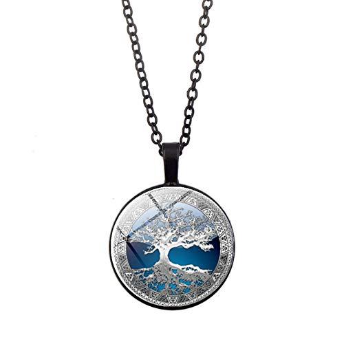 Comie – Collar para mujer, collar básico solitario colgante Dangly cadenas con cristales brillantes, cadena de acero inoxidable, cadena de plata para mujeres, joyas de regalo de cumpleaños