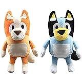 EREL 2 Stück Plüschtier 28 cm Hund Plüschtier Bluey Party Puppenspielzeug Geschenk for Verwandte und Freunde Q dedu