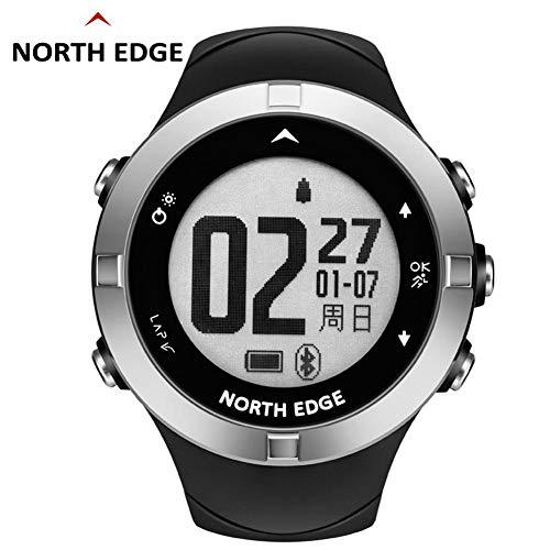 Househome North Edge X-TREK2 Intelligente Outdoor-Sportuhr für Herzfrequenz, North Edge GPS Schrittzähler Multifunktionsuhr, Eisen DREI wasserdichte Kompassuhr, 8 Sprachen
