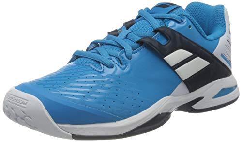 BABOLAT Propulse AC Junior, Zapatillas de Tenis Unisex Adulto, White/Blue Aster, 38.5 EU