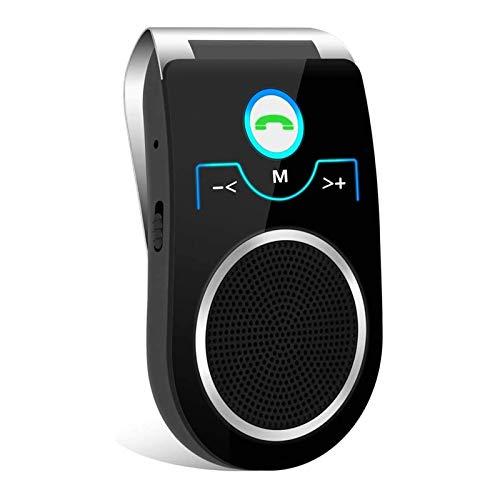 Aigoss Auto Kfz Bluetooth Freisprecheinrichtung Car Kit für Sonnenblende Automatische Abschaltung, Freisprechanlage mit Siri Google Assistant Unterstützt 2 Telefone gleichzeitig
