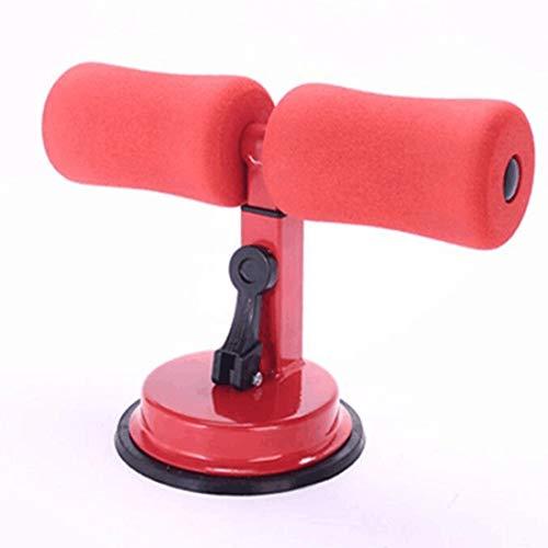 Asistente de Sit-Ups, barra de auto-succión portátil, 4 engranajes ajustables para el hogar, para perder peso, entrenamiento de abdominales, estiramiento, rojo, L