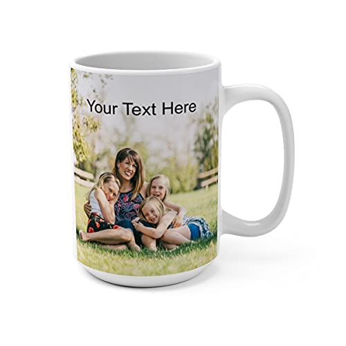 Personalized Coffee Mug - Add pictures or logos or text to our Custom Mugs 15oz Ceramic
