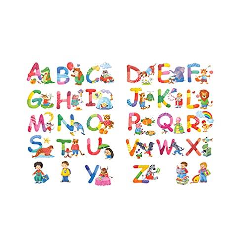 STOBOK Abecedario ABC Niños Pegatinas de Pared Calcomanías Peel And Stick Extraíbles...