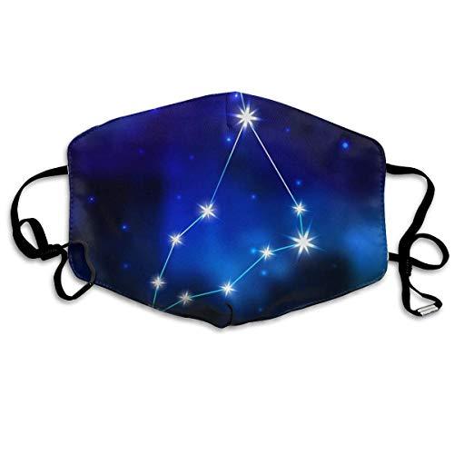 Mundschutz Zodiac Constellation in The Sky Gesichtsschal Waschbar Wiederverwendbar Unisex Weich und bequem für Männer und Frauen Mädchen Junge