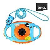 Funkprofi Digitalkamera für Kinder, 5 Megapixel Mini Kinderkamera mit 1,77 Zoll Display Kids Camcorder Geschenk und Spielzeug für Kinder - Orange mit 16GB TF Karte