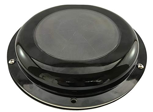 SOLATEK Solar Ventilation Fan with Battery for Boat, Yacht, Camper, Home, Black