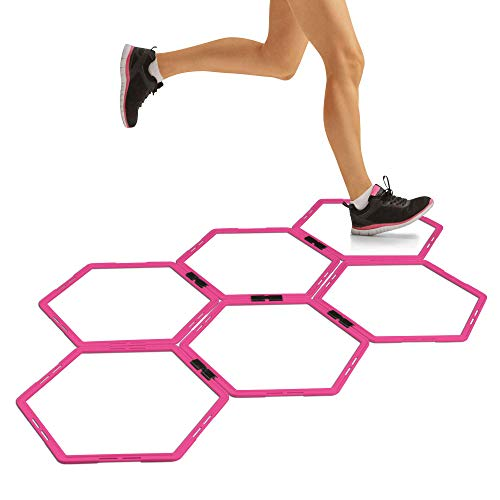 RBX Hexagonal Rings for Speed and Agility Training, 20-Inch