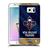 Head Case Designs Officiel NBA Banner 2019/20 New Orleans Pelicans Coque en Gel Doux Compatible avec Samsung Galaxy S6 Edge