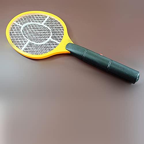 XKMY Mosquito Killer Estate Anti zanzara Fly Cordless Batteria Potenza Elettrica Zanzara Swatter Bug Zapper Racchetta Insetti Killer Home Bug Zappers (Colore: Giallo, Tipo di Spina: CN)