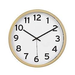 AmazonBasics 12 Numbered Wall Clock - Brass