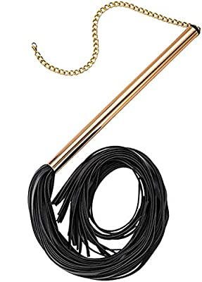 Rose Gold Crop Whip Leather Whip-Elegant Whip by JOUDOO