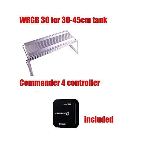 Smart App Control Chihiros WRGB Acuario luz led con color azul blanco rojo ajustable como el amanecer La luz de la perla de la lámpara es suave y suave ( Color : WRGB30 Hv CMD4 )