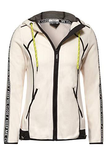 Cecil Damen Sweatjacke aus Fleece Light Alabaster beige M