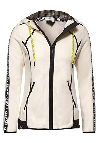 Cecil Damen Sweatjacke aus Fleece Light Alabaster beige L