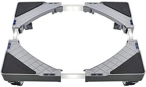 ZRKJ-jl Máquina de Lavado móvil Base, Soporte para refrigerador de pie Ajustable (44-66 cm), Secadora de Lavadora Piernas refrigerador con 4 Ruedas universales