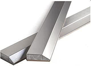 Vogue Tile 12 inch Stainless Steel Metal Bullnose Border Edge Trim Glass, Decorative Wall and Backsplash Tile Finished