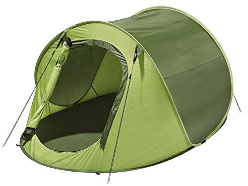 Wurfzelt Schnellaufbauzelt Zelt Campingzelt für bis zu 2 Personen (Grün)