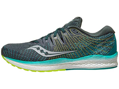 Saucony Men's Liberty ISO 2 Running Shoe, Green/Teal, 11 M US