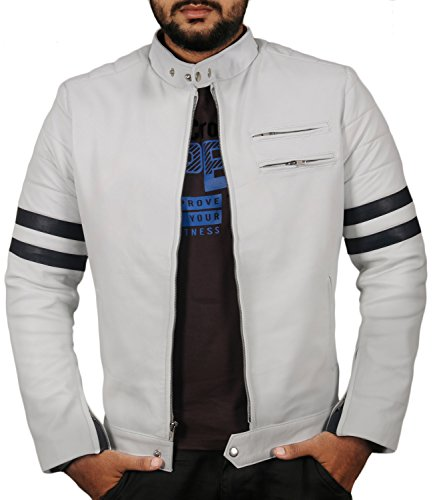 White Men's Leather Jackets
