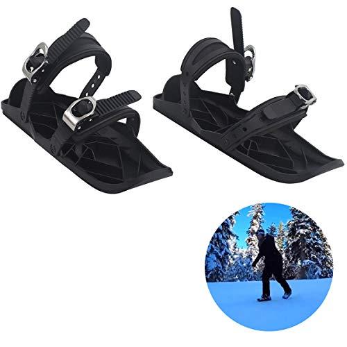 LYRAL Nieuwe Mini Skates voor Sneeuw, Verstelbare Bindings Draagbare Skiën Schoenen, De Korte Skiboard Sneeuwbladen, Outdoor Sportschoenen