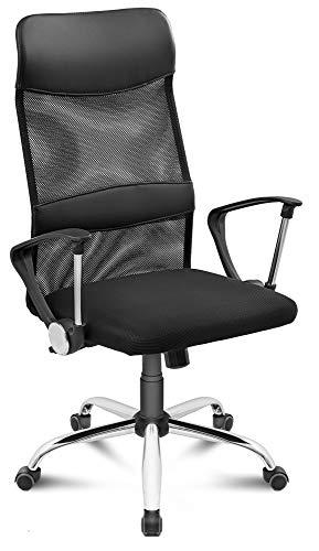 DiVolio Bürostuhl Prestige PRO Schreibtischstuhl Drehstuhl Rückenlehne Armlehnen Netzstoff Belastbarkeit bis 150kg